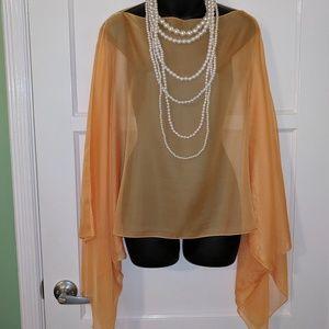 💥SALE💥 Elegant Sheer Cold Shoulder cover/ blouse